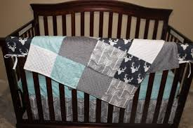 Baby Boys Crib Bedding by Baby Boy Crib Bedding Navy Buck Gray Arrow And Herringbone