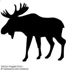 moose template moose silhouette vector graphic