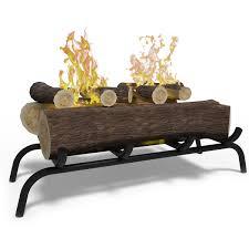 elite flame 18 inch convert to ethanol fireplace log dark oak