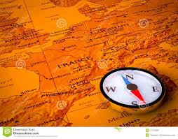 European Map by Compass On European Map Stock Photo Image 11174560