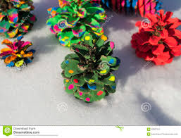 painted pine cone christmas tree stock photo image 62807537