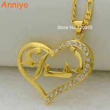 arabic name necklace gold aliexpress buy anniyo can not customize heart arabic name