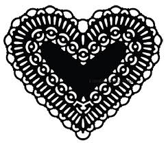 heart doily sts die heart doily