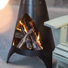 Chiminea Fire Pit Red Ember Alto Steel Chiminea Hayneedle