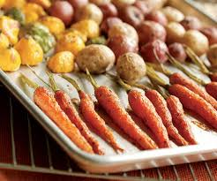 roasted baby squash carrots potatoes finecooking