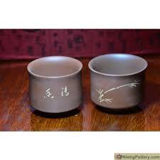 Handmade Tea Cups - purple clay tea cups qinzhou nixing pottery handmade tea cup