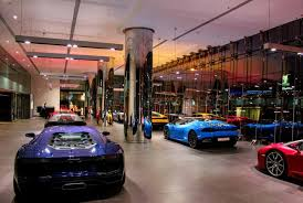 ferrari showroom dubai opens world u0027s largest lamborghini showroom al arabiya english