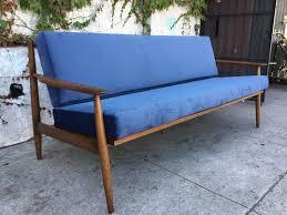 Blue Modern Sofa Copenhagen Mid Century Modern Sofa In Blue Sunbeam Vintage