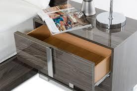 White Platform Bedroom Sets Modrest San Marino Modern Grey Bedroom Set