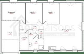 plan maison de plain pied 3 chambres plan maison plain pied 3 chambres plan maison