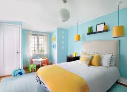 chambre jaune et bleu couleur de chambre 100 idées de bonnes nuits de sommeil