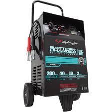 schumacher wheeled battery charger with engine start u2014 6 12 volt