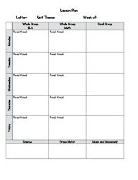 lesson plan template gelds pre k lesson plans teaching resources teachers pay teachers