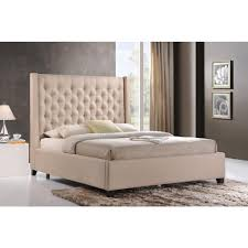 Home Depot Sand Box Luxeo Huntington Sand King Upholstered Bed Lux K6479 222 The