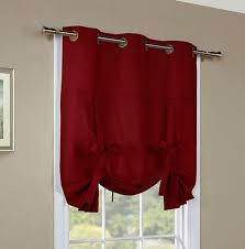 Tie Up Window Curtains Weathermate Insulated Grommet Tie Up Curtain Thermal Solid Color