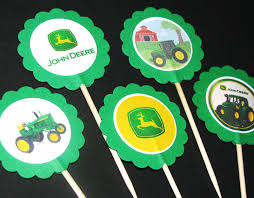 deere cake toppers deere cupcake toppers or for decoration party ideas