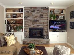 fireplace with bookshelves interior design