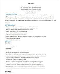 sample bank teller resume 7 examples in word pdf