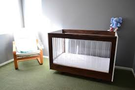 walnut and acrylic baby crib for my son by outsane lumberjocks