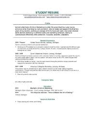 Resume For College Students Free by Simple Resume Examples For College Students College Student