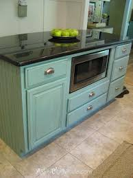 Blue Painted Kitchen Cabinets Kitchen Cabinets Chalk Paint