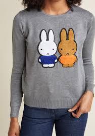 compania fantastica of a bunny story sweater modcloth