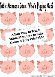 table manners for kids printable a fun way to teach table manners to kids free printable