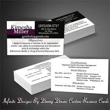 Business Card Resume Infinite Designs By Danny Denine Business Essentials