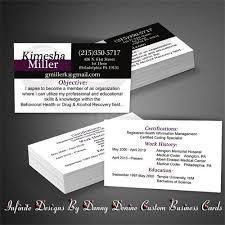 business card resume infinite designs by danny denine business essentials