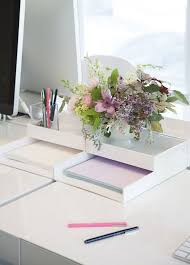 Organized Desk Ideas Get Your Stuff Off Your Desk Out Of Your Way Punched Clocks