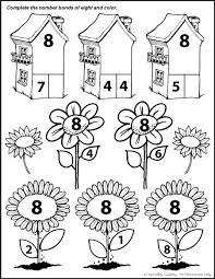 number bonds to 8 free math worksheets printable numbers number