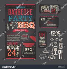 bbq tickets template barbecue bbq template menu design stock vector 280579481