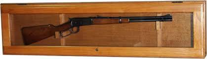 Oak Wall Mounted Display Cabinet Model 301 Oak Wall Mount Gun Display