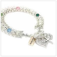 mothers birthstone bracelets mothers birthstone charm bracelets with 4 charms and birthstones