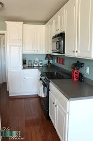 painted kitchen cabinets with benjamin moore simply white paint