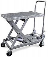 aluminum hydraulic table cart