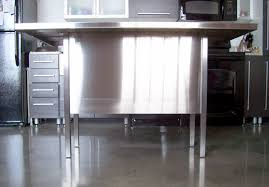 stainless steel kitchen island small kitchen design grey concrete