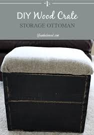 Diy Storage Ottoman Diy Wood Crate Storage Ottoman Unbalanced