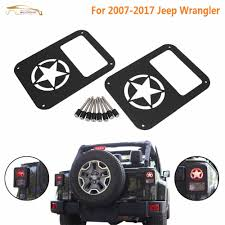 jeep wrangler military wisengear 1pair rear tail brake light lamp guard cover protector