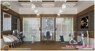 pooja living home gym and office interiors kerala home design