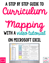 curriculum mapping with excel a video tutorial