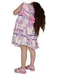 buy kashana kids pink cotton floral printed sleevless girls baby
