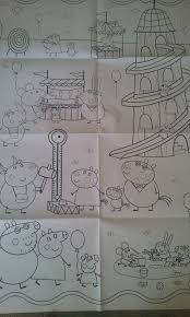ifunky peppa pig giant poster art colouring book kids