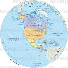 Maps North America by Geoatlas Globes North America Map City Illustrator Fully