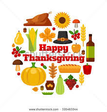 happy thanksgiving day design objects stock vector