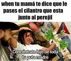Memes Mama - dopl3r com memes when tu mam磧 te dice que le pases el cilantro