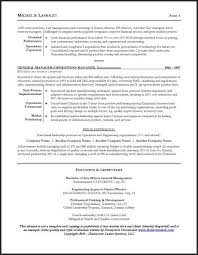 Senior Management Resume Templates Resume Sample For A Ceo