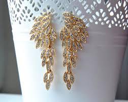 gold earrings for wedding 1920s earrings etsy