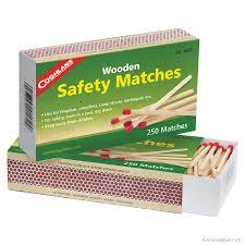 wooden safety matches firestarters coghlan u0027s