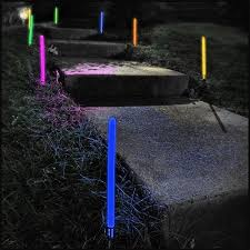 12 inch glowing ground stakes 5 color mix